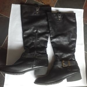 Rampage black faux leather boots